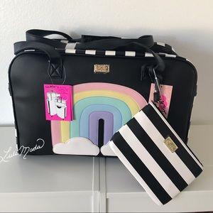 Betsey Johnson Rainbow Weekender Travel Bag